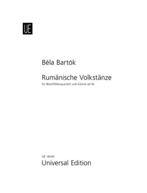 BARTOK-RUMANIAN-FOLK-DANCES-Des-Rec-Bartok-Bela-separate-part-for-recorder-qu